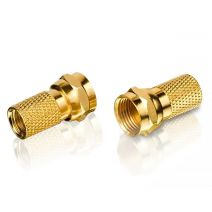 F Connector (Goud)