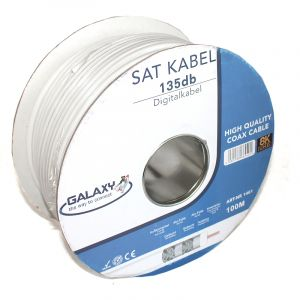Galaxy Coax Kabel 135 dB 3D / 8K Digitale SAT kabel Wit (1461)